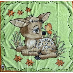 Dětská deka zelená KOLOUŠEK