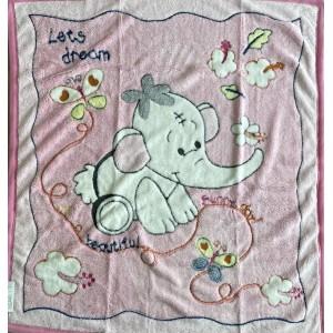 Dětská deka růžová SLŮNĚ