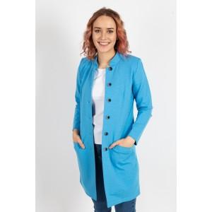 Kabát na knoflíky modrý