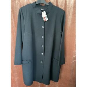 Kabát na knoflíky černý